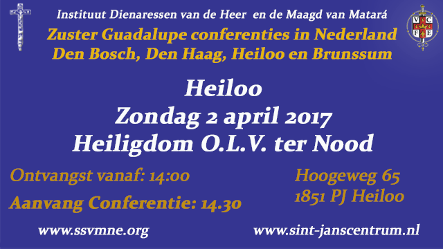 Zuster Guadalupe-conferentie-Heiloo